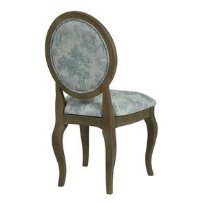 Chaise médaillon en tissu toile de Jouy - Hortense - Visuel n°4