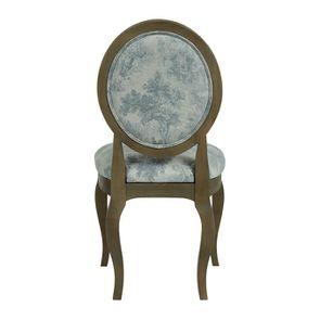 Chaise médaillon en tissu toile de Jouy - Hortense - Visuel n°5
