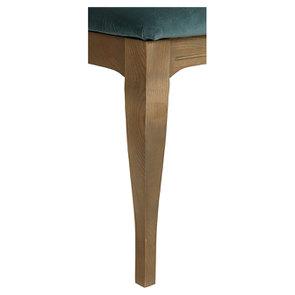 Chaise médaillon en tissu velours vert bleuté - Hortense - Visuel n°3