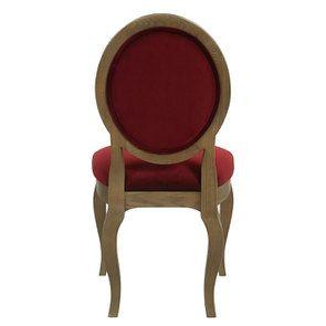 Chaise médaillon en velours lie de vin - Hortense - Visuel n°5