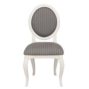 Chaise médaillon en tissu rayure tennis - Hortense
