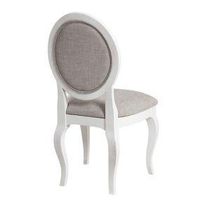 Chaise médaillon en tissu losange gris - Hortense - Visuel n°3