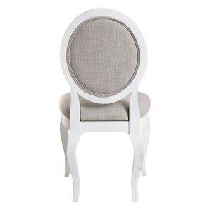 Chaise médaillon en tissu losange gris - Hortense - Visuel n°4