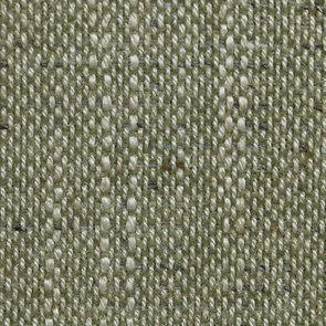 Chaise médaillon en tissu vert amande et hévéa blanc - Hortense - Visuel n°7