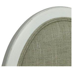 Chaise médaillon en tissu vert amande et hévéa blanc - Hortense - Visuel n°8