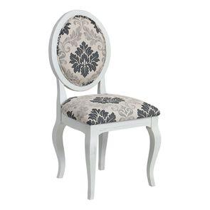 Chaise médaillon en tissu arabesque - Hortense - Visuel n°2