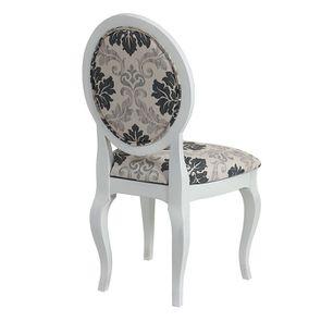 Chaise médaillon en tissu arabesque - Hortense - Visuel n°3
