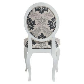 Chaise médaillon en tissu arabesque - Hortense - Visuel n°4