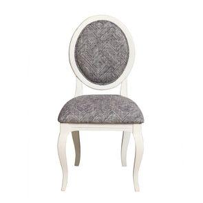 Chaise médaillon en tissu mosaique indigo - Hortense - Visuel n°2