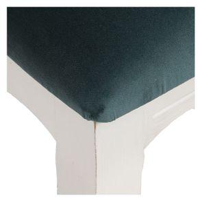 Chaise médaillon en velours vert bleuté et hévéa massif blanc - Hortense - Visuel n°9