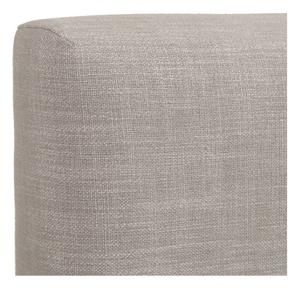 Tête de lit 140/160 cm tissu beige sans capitons - Capucine
