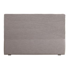 Tête de lit 180 cm tissu beige sans capitons - Capucine