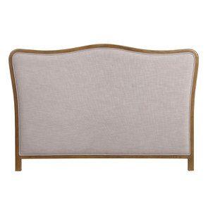 Tête de lit 180 cm en tissu lin beige - Joséphine