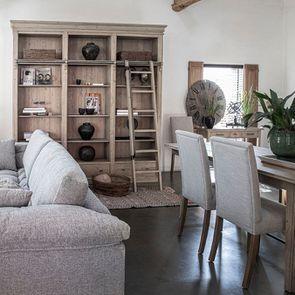 Chaise en frêne massif et tissu beige - Romane - Visuel n°4