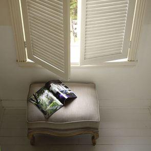 Pouf en frêne massif et tissu beige - Hector - Visuel n°2