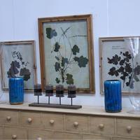 Cadre décoratif en bois herbier
