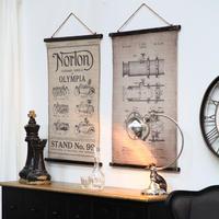 Toile décorative en lin imprimé téléscope
