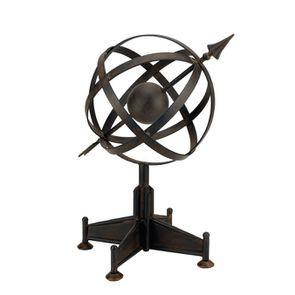 Sphère sur pied en métal
