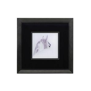 Tableau imprimé cheval en bois et verre