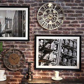 Tableau en bois noir photo New York - Visuel n°2