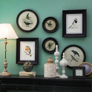 Tableau rond oiseaux