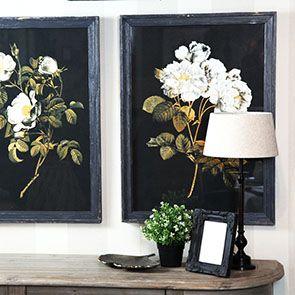 Tableau imprimé duo de fleurs
