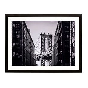 Tableau en bois photo Manhattan