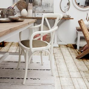 Fauteuil bistrot blanc