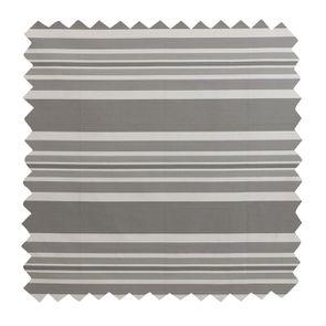 Tissu au mètre motif bayadère gris