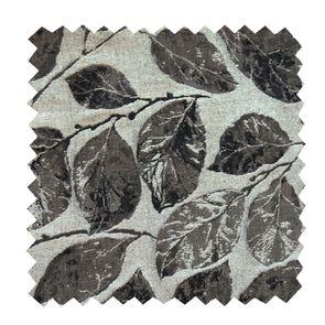 Tissu au mètre motifs feuilles noires