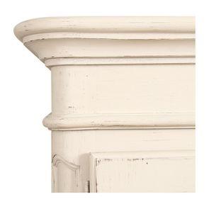 Armoire penderie 2 portes en pin massif blanc vieilli - Château - Visuel n°9