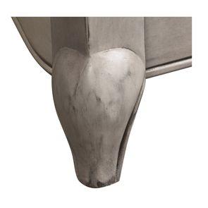 Lit enfant 90x190 en pin gris argenté - Château - Visuel n°6