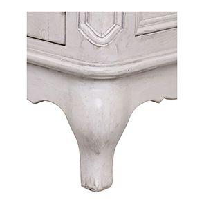 Buffet bas 2 portes en pin blanc opaline vieilli - Château - Visuel n°5