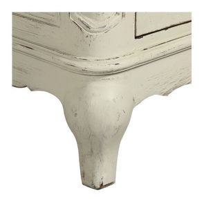 Buffet bas 2 portes en pin blanc vieilli - Château