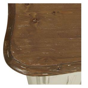 Buffet bas 2 portes en pin blanc vieilli - Château - Visuel n°9