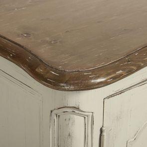 Buffet bas 2 portes en pin blanc vieilli - Château - Visuel n°10