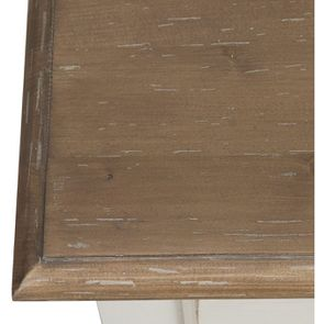 Commode blanche 6 tiroirs en pin massif - Château - Visuel n°9