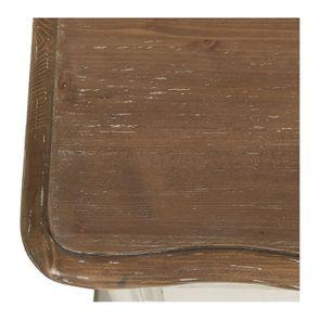 Commode 4 tiroirs en pin blanc vieilli - Château - Visuel n°9