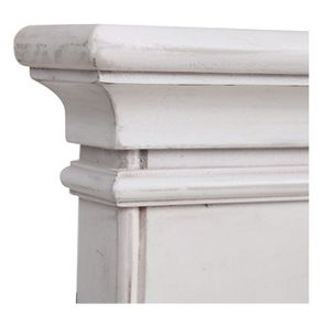 Miroir trumeau rectangulaire en pin blanc - Château - Visuel n°9