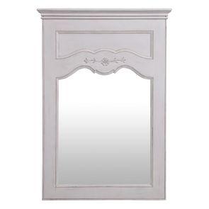 Miroir trumeau rectangulaire en pin blanc - Château