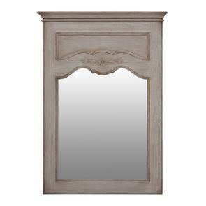 Miroir trumeau rectangulaire en pin gris - Château