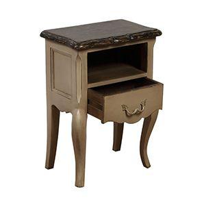 Table de chevet 1 tiroir en pin massif - Château - Visuel n°3