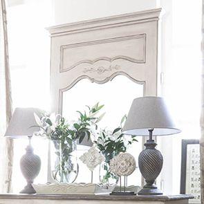 Miroir trumeau rectangulaire en pin - Château