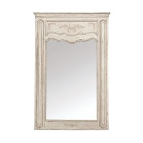 Grand miroir trumeau rectangulaire en pin - Château