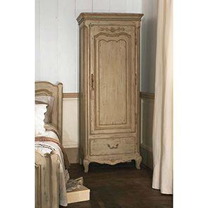 Armoire penderie bonnetière 1 porte en pin massif - Château - Visuel n°3