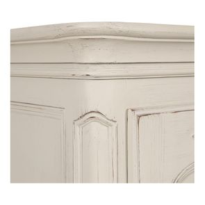 Armoire penderie bonnetière 1 porte en pin blanc vieilli - Château - Visuel n°3