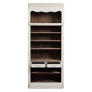 Bibliothèque blanche modulable 2 tiroirs en pin - Château - Visuel n°4