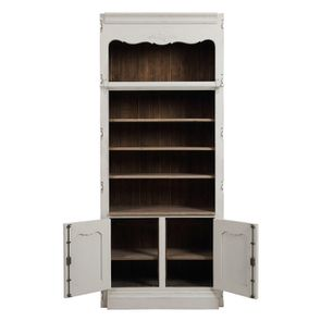 Bibliothèque blanche modulable 2 portes en pin - Château - Visuel n°3