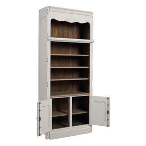 Bibliothèque blanche modulable 2 portes en pin - Château - Visuel n°4