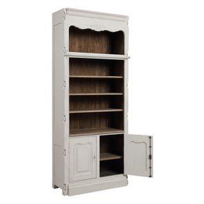 Bibliothèque blanche modulable 2 portes en pin - Château - Visuel n°5